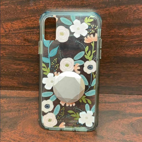 Rifle Paper Co iPhone X/XS case with popsocket